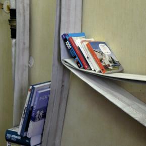 Le vecchie manichetteantincendio diventano librerie