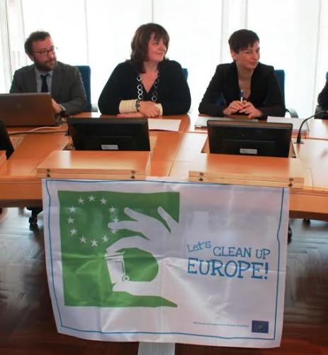 Barbara Degani durante la presentazione di Pulisci e corri avvenuta il 19 marzo a Roma