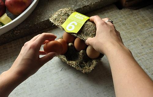 Happy Eggs, il packaging delle uova diviene organico