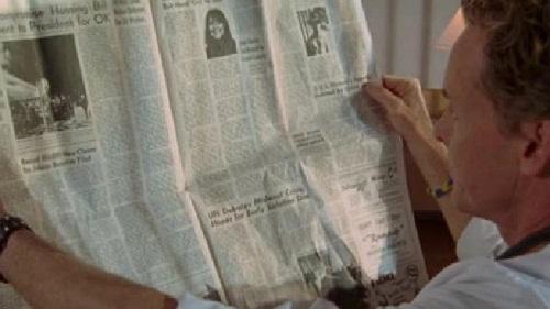 """Il quotidiano della The Earl Hays Press in """"Scrubs"""""""