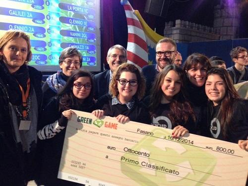 I vincitori dell'edizione 2014 di Green Game, svoltasi nella Merche.