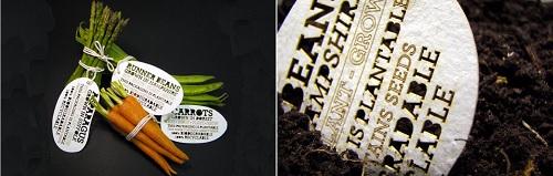 Le etichette che si piantano ideate da Ben Huttley