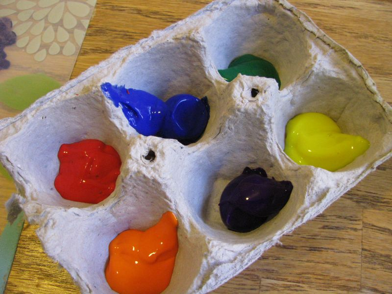 Riciclo cartoni uova