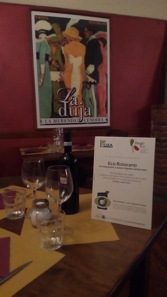 L'interno di un Eco-ristorante (fonte: Coop. Erica)