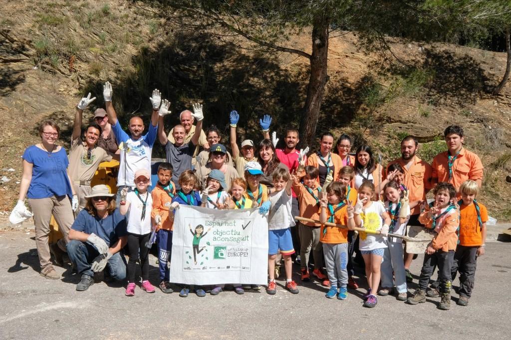 Azione di Clean Up di sabato 12 maggio 2018, svolta nell'Ajuntament Sant Boi in Spagna